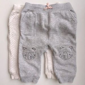H&M Baby Joggers | Set of 2 | Neutrals | 6-9 M